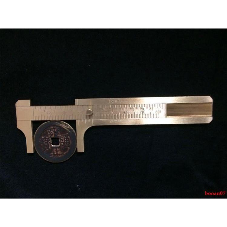 เยอรมนีบริสุทธิ์ทองแดง caliper vernier caliper มินิไม้บรรทัดทองเหลือง