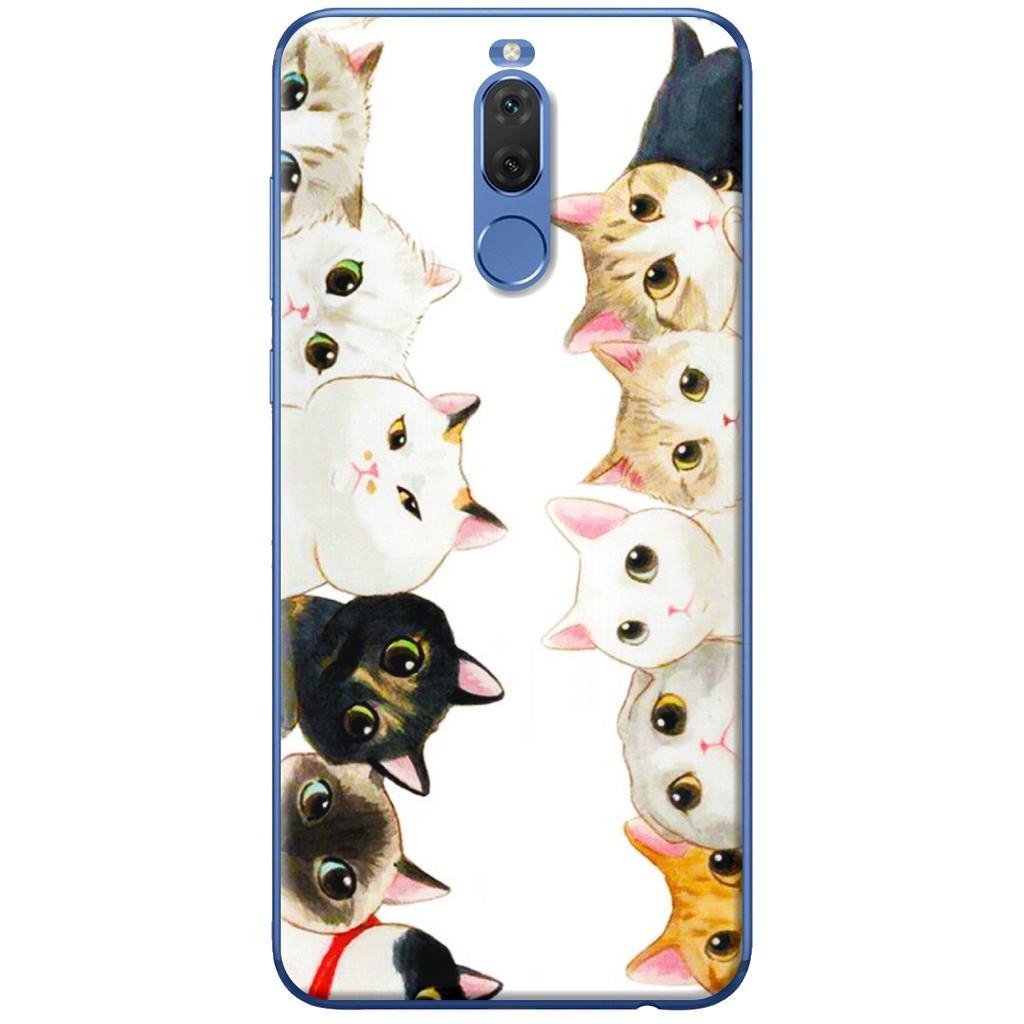 Ốp lưng nhựa dẻo Huawei Nova 2i Mười con mèo