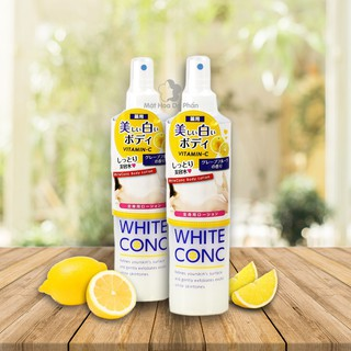 Xịt Dưỡng Trắng Da White Conc Body Lotion Vitamin C 245ml