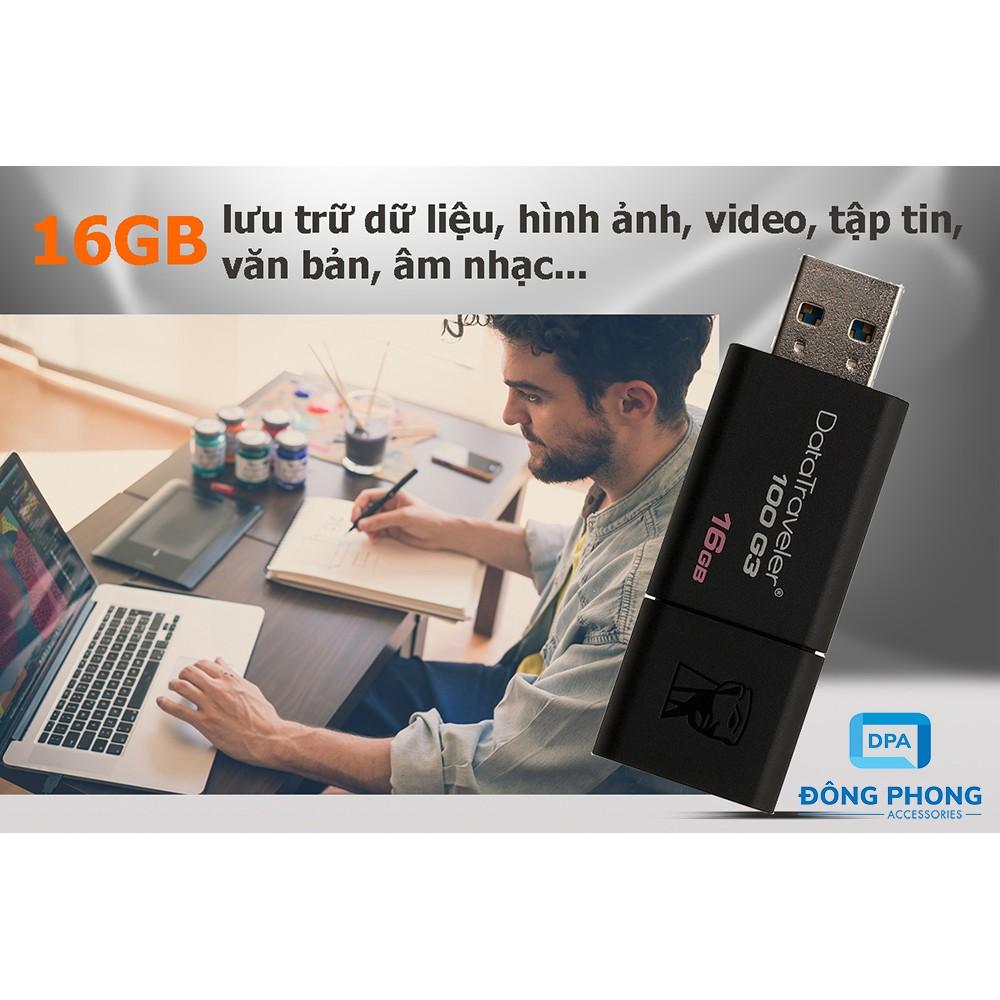 USB 3.0 Kingston 16GB Chính Hãng Bảo Hành 5 Năm