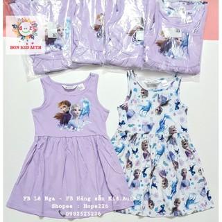 Set 2 váy Elsa tím HM H&M Us hãng bỏ tag giấy, nguyên túi đủ tag vải sz 2-4y, 4-6y