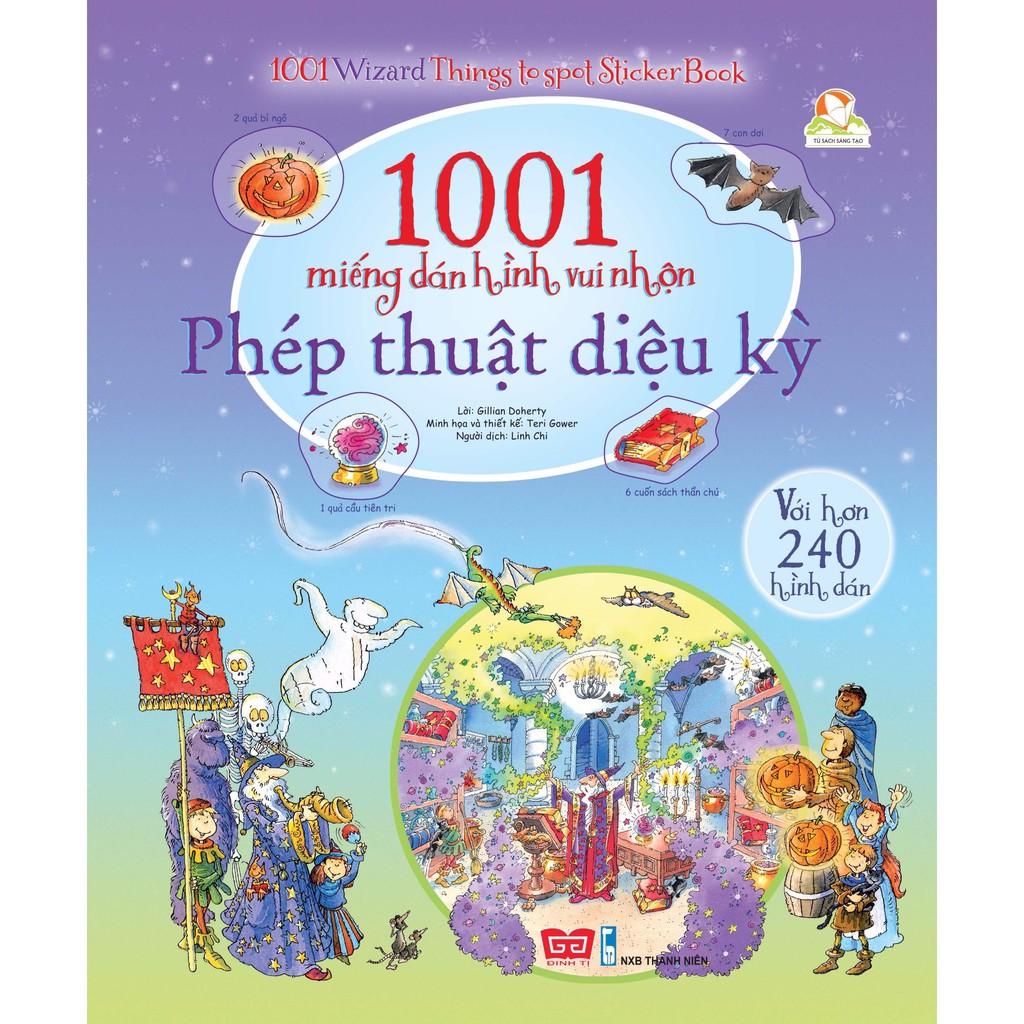 Bộ sách 1001 miếng dán hình vui nhộn bóc dán USBORNE