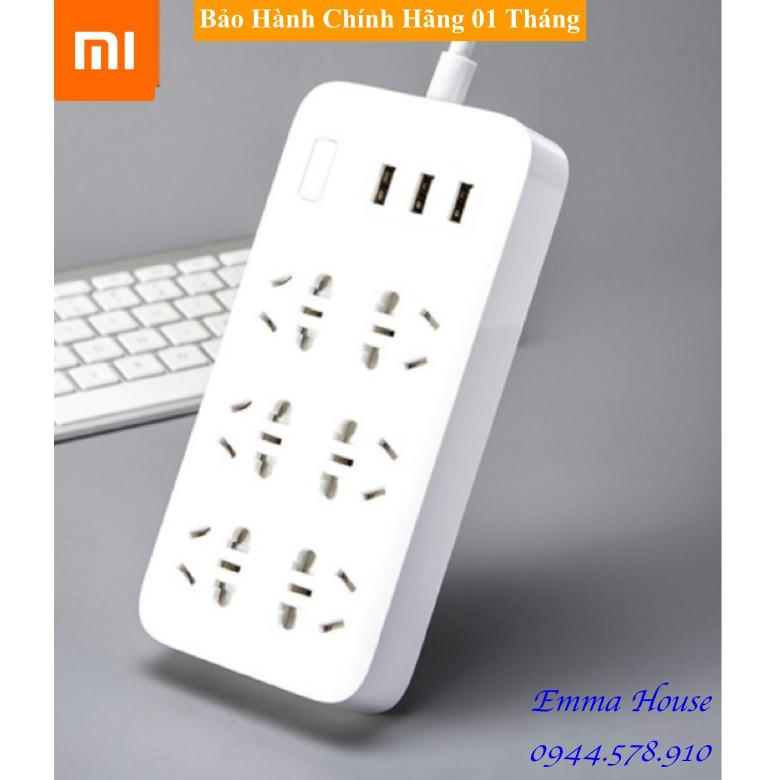 [Hàng Chính Hãng] Ổ Cắm Thông Minh Xiaomi Power Strip 6 Ổ Cắm Điện 3 Cổng USB / BH 1 tháng