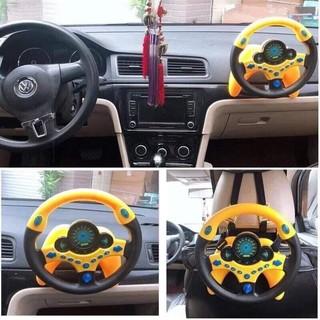 Vô lăng đồ chơi lái xe cho bé bằng nhựa ABS an toàn phiên bản quốc tế