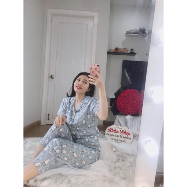 [Mã WASEPRN hoàn 20% xu đơn 99k] bộ Pijama tay ngắn quần dài