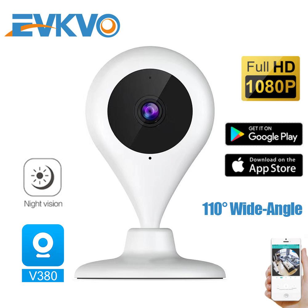 Camera Ip Wifi Không Dây Evkvo - V380 Hd 1080p Với Tầm Nhìn Ban Đêm 110 Độ