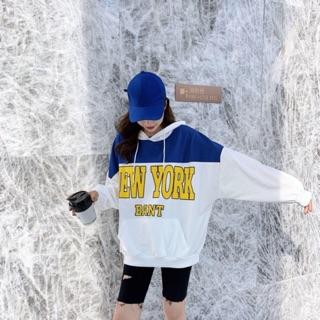 Mã FSSCASH23 hoàn tối đa 50.000 xu -Áo hoodie nữ in chữ New york