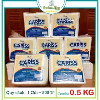 Khăn vải khô đa năng baby cariss- 500 tờ x 19cm