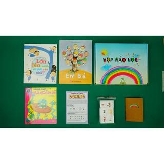 HỘP HÁO HỨC TƯ DUY, TRÍ TƯỞNG TƯỢNG, Combo 3 cuốn sách, Set đồ chơi tư duy DOMINO, 3-6 tuổi, T121