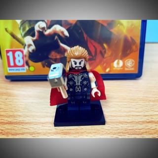 Nhân vật minifigure Thor búa mạ chorme (Marvel)