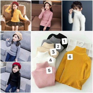 Áo len cổ lọ Hàn Quốc cho bé trai và bé gái 3-10 tuổi