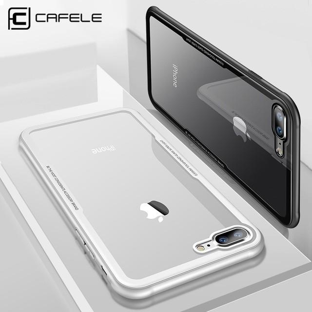 Ốp lưng nắp kính trong suốt không ố, viền màu hiệu Cafele cho iPhone 7 Plus / iPhone 8 Plus - 2801344 , 953029233 , 322_953029233 , 175000 , Op-lung-nap-kinh-trong-suot-khong-o-vien-mau-hieu-Cafele-cho-iPhone-7-Plus--iPhone-8-Plus-322_953029233 , shopee.vn , Ốp lưng nắp kính trong suốt không ố, viền màu hiệu Cafele cho iPhone 7 Plus / iPhone