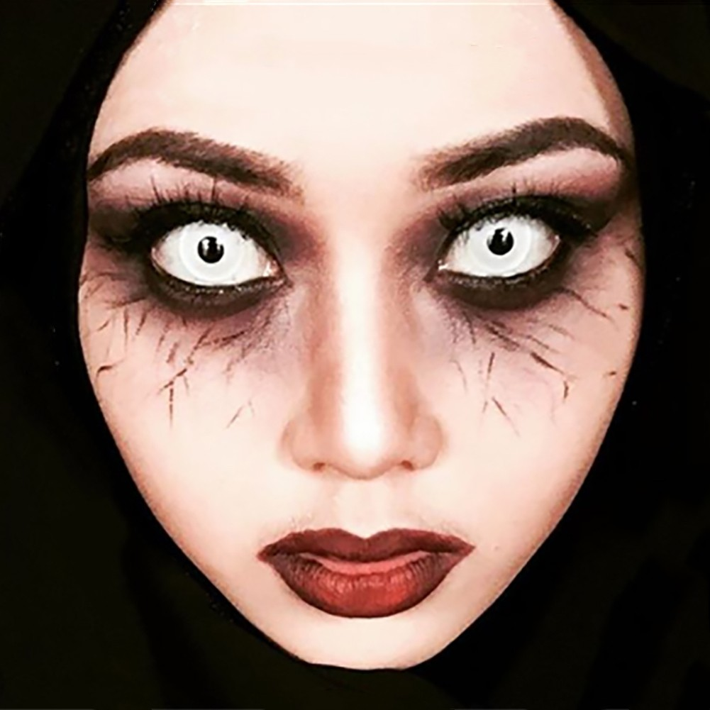 Simrises 1 Pair Halloween Cosplay Big Comfort Unisex Coloured Contact Lenses Eyes Makeup