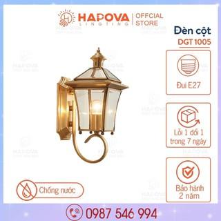Đèn ốp tường, đèn gắn tường cao cấp trang trí bằng Đồng HAPOVA DGT 1005 + Tặng kèm bóng led