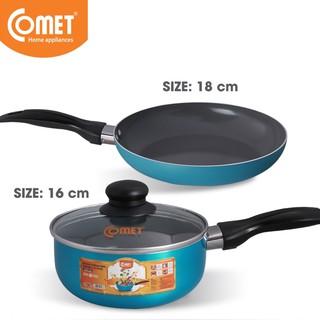 Combo chảo và quánh chống dính Ceramic an toàn Comet CH10-18 & CH31-16 thumbnail