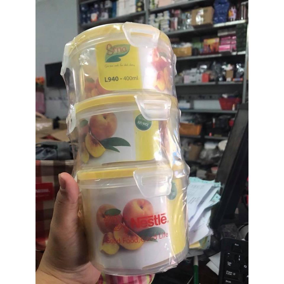 Bộ 3 hộp cơm kèm túi giữ nhiệt Nestle