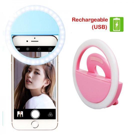 Đèn selfie Ring light cho điện thoại sạc điện TẶNG KÈM DÂY SẠC hàng chuẩn