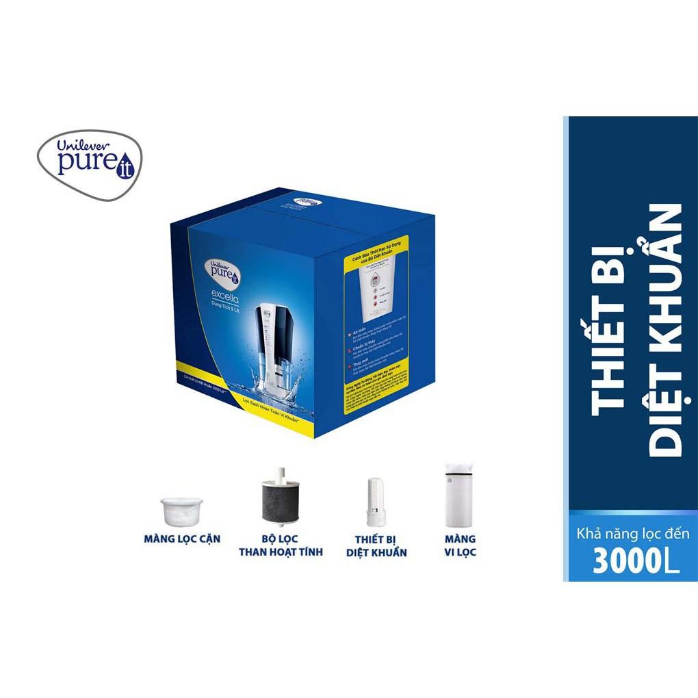 [Mã ELMALL50K giảm 6% đơn 499K] Bộ lọc thay thế unilever Pureit Excella 9L
