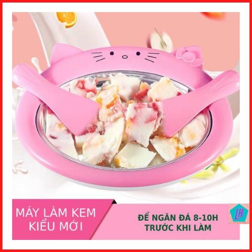 Máy làm kem, chảo làm kem sửa chua mini cho trẻ nhỏ