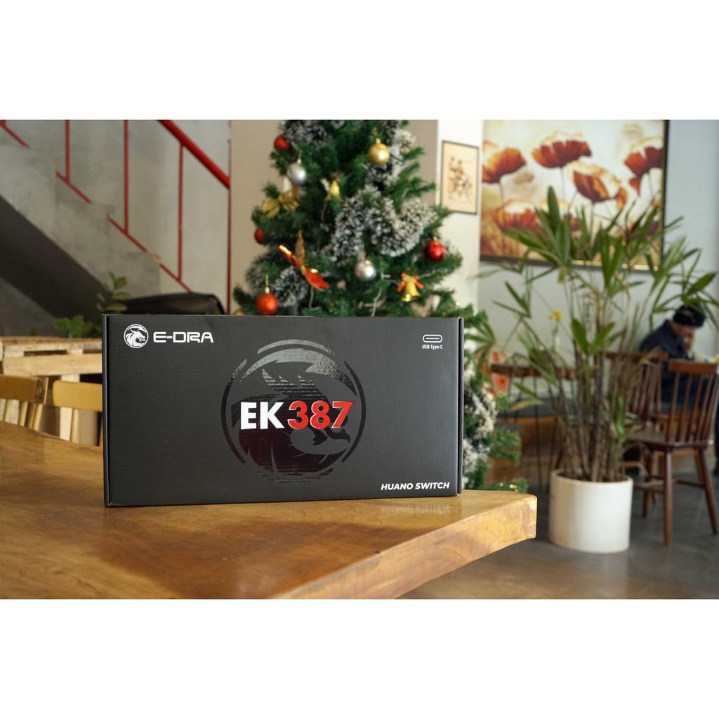 Bàn phím cơ E-Dra EK387 Rainbow, EK387 RGB (Gateron/Huano Switch Bản 2021) - Bảo hành 24 tháng chính hãng