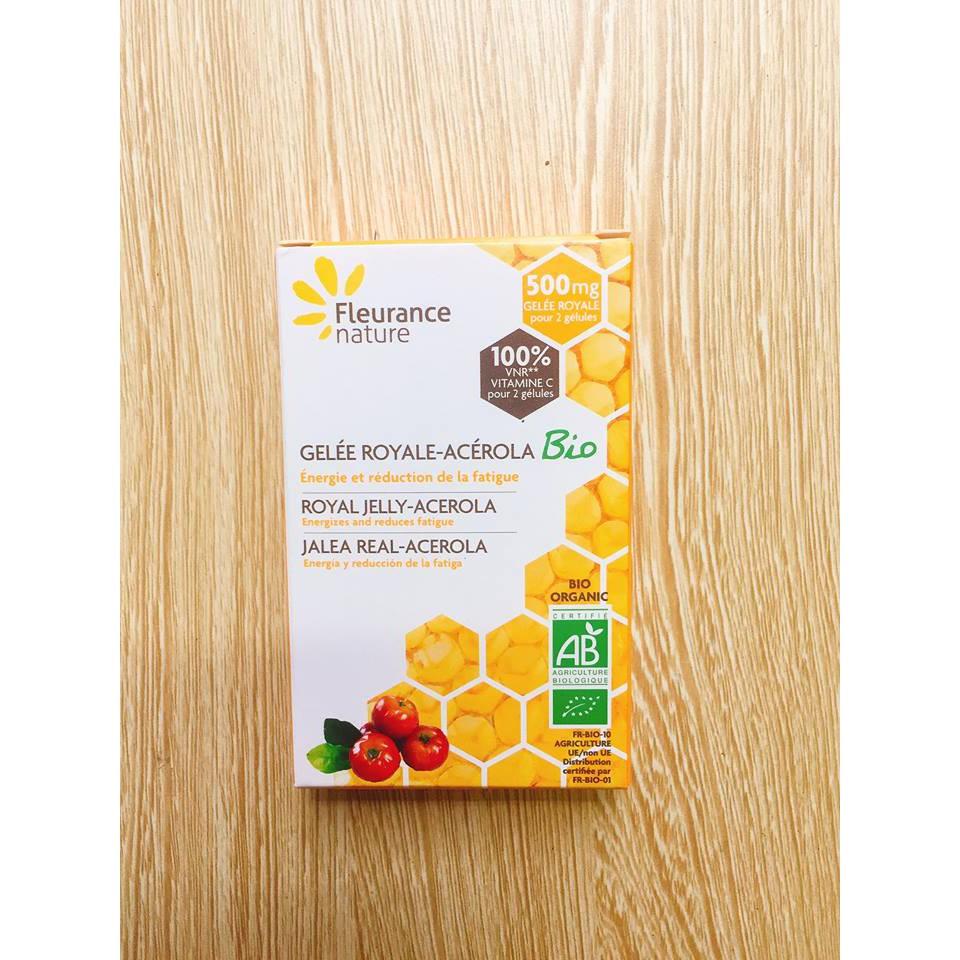 Viên C ong chúa hữu cơ Fleurance (30V)