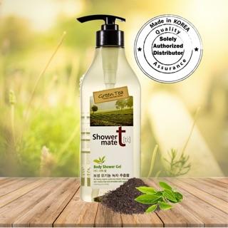 Sữa Tắm Tinh Chất Trà Xanh Shower mate green tea 550g (dưỡng ẩm ,làm sạch,hương thơm nhẹ nhàng)