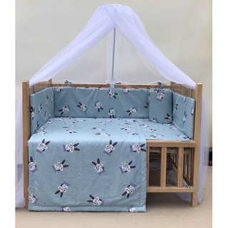 Combo cũi giường gỗ sồi GoldCat - Mua combo tặng Balo bỉm sữa