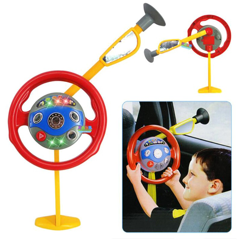 Coagulatepower Children electronic car seat steering wheel educational toy game classic toy