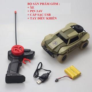 Xe Ô tô điều khiển từ xa tốc độ cao tỉ lệ 1:20 điều khiển sóng 2.4G pin sạc 3.6v dung lượng 700mAh
