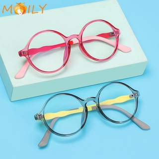 MOILY Fashion Comfortable Eyeglasses TR90 Ultra Light Frame Kids Glasses Portable Online Classes Computer Children Boys Girls Eye Protection Anti-blue Light/Multicolor