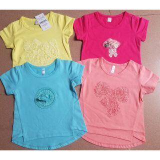 Áo bé gái tay ngắn Anvy 1-7t/ áo cộc tay bé gái