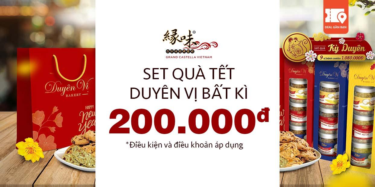 E voucher Grand Castella 200.000 mua set quà Tết Duyên Vị bất kì