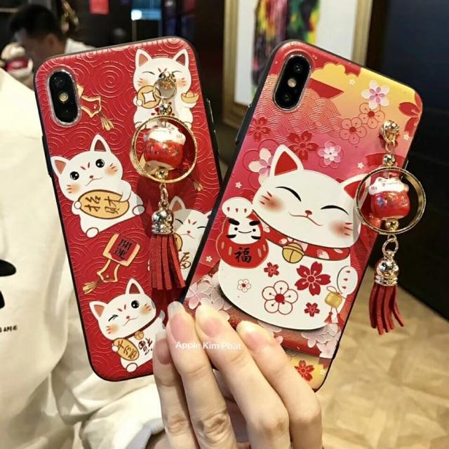 🎎🎏 Ốp #mèo #thần #tài kèm #chuông #mèo Ip6/6plus -7/7plus - X