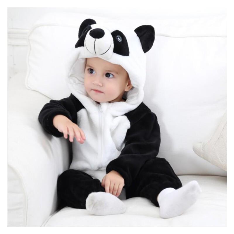 Bộ Áo Liền Quần Hóa Trang Halloween Hình Gấu Trúc Dễ Thương Dành Cho Bé