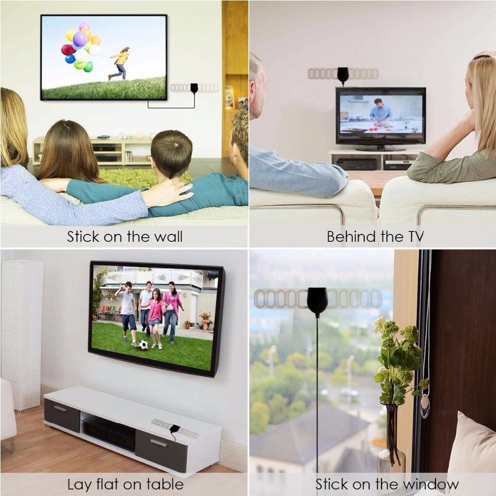 Indoor Durable Lightweight 20 DBi Digital HDTV Ultra Thin Accessories Universal Soft Antenna