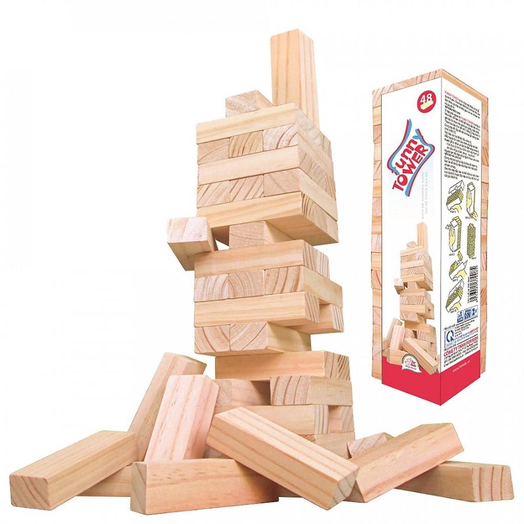Bộ đồ chơi rút gỗ 48 Miếng Cho trẻ từ 5 tuổi trở lên
