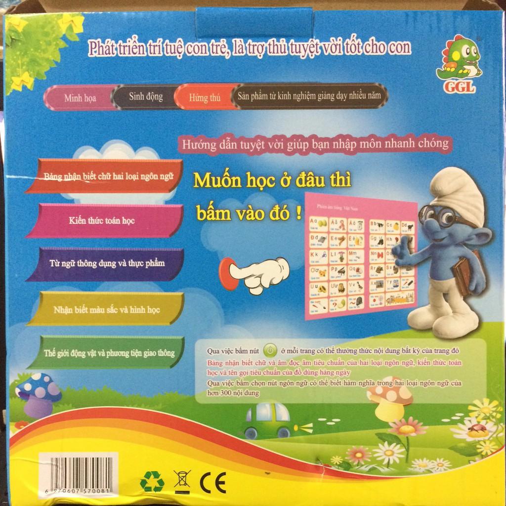 [Nhập mã TOYMAY15 giảm 15K] Sách song ngữ Việt - Anh cảm ứng giúp cho bé phát triển sớm khả...