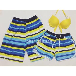 Cặp quần đôi nam nữ mặc đi bơi đi biển kèm áo đẹp
