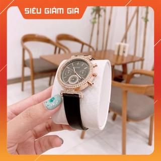 Đồng hồ nữ GUOU mặt đính đá sang trọng dây da mềm mại cực đẹp - Tặng kèm hộp và Pin hộp và quà