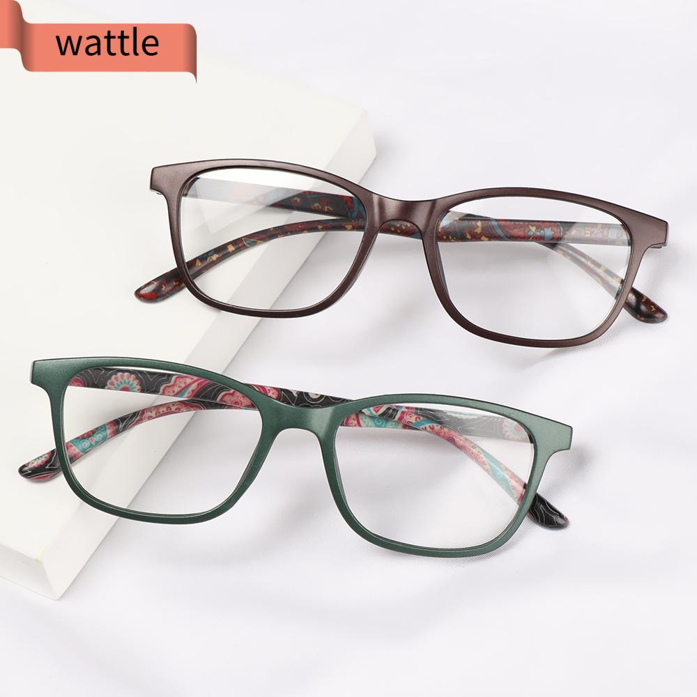 WATTLE Women Anti-blue Light Glasses Classic Presbyopia Eyeglasses Optical Eyewear Vision Care Fashion Retro Vintage Computer Goggles/Multicolor