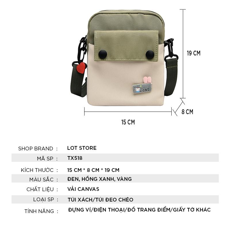 Túi đeo chéo nữ đi chơi da mềm cá tính dễ thương nhiều ngăn TX518