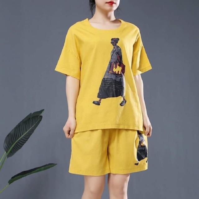 Đồ bộ nữ mặc nhà thun co dãn 4 chiều ( Ảnh thật )