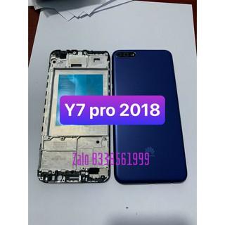 bộ vỏ Y7 pro 2018 – huawei ( gồm lưng , sườn và đủ phím bấm)