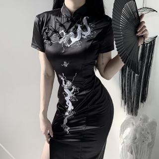 Đầm Sườn Xám Cách Tân Lưng Cao Xinh Xắn Theo Phong Cách Trung Hoa Dành Cho Nữ