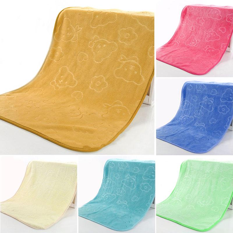 Baby Infant Newborn Soft Cartoon Embossing Bath Towel Washcloth Wipe Cloth Hot