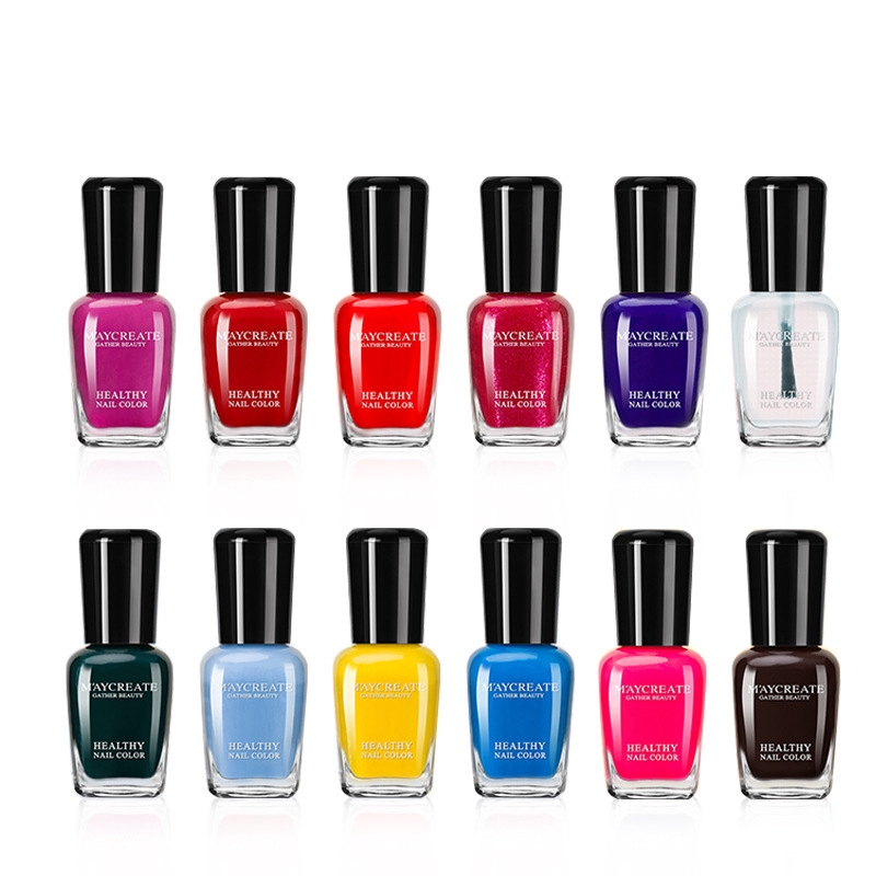 Bộ 6 chai sơn móng tay MAYCREATE chống nước bền màu lâu trôi