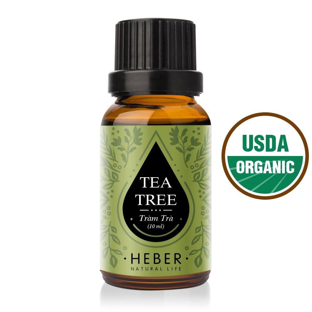 Tinh Dầu Tràm Trà Heber - Tea Tree Essential Oil   Cao Cấp Nhập Khẩu   100% Thiên Nhiên Nguyên Chất   Xông Thơm Phòng