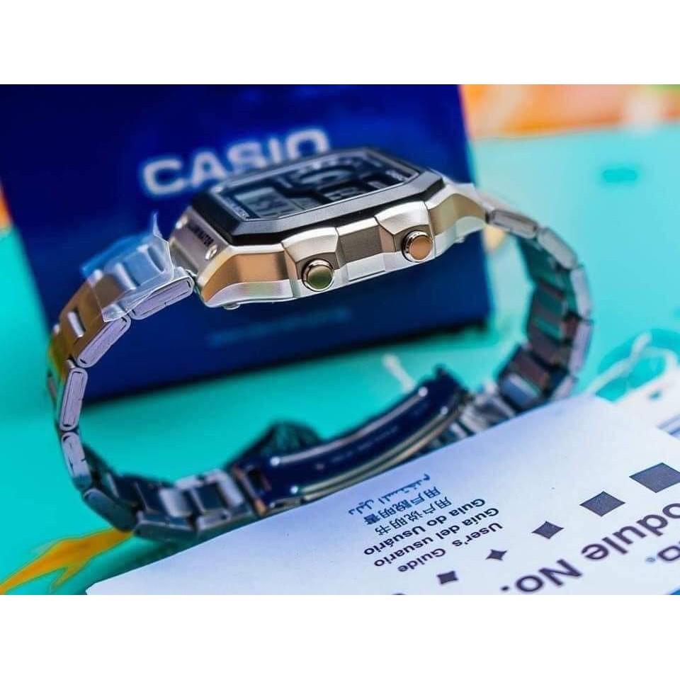 Đồng hồ điện tử nam-nữ casio AE 1200-WHD Vỏ thép không gỉ máy Nhật chống nước siêu đẹp