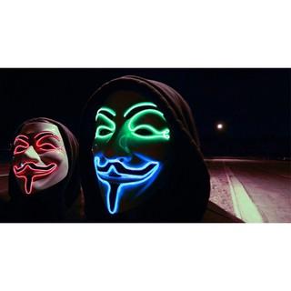 MẶT NẠ HÓA TRANG HACKER anonymous đèn led viền cao cấp chính hãng Mcho nam và nữ