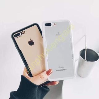 (GIÁ HOT)Ốp Lưng Cứng Viền Màu IPhone 6 6s 6plus 6splus 7 7plus 8 8plus X -pkdt